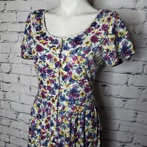 Vintage Expo Floral Cottagecore Dress